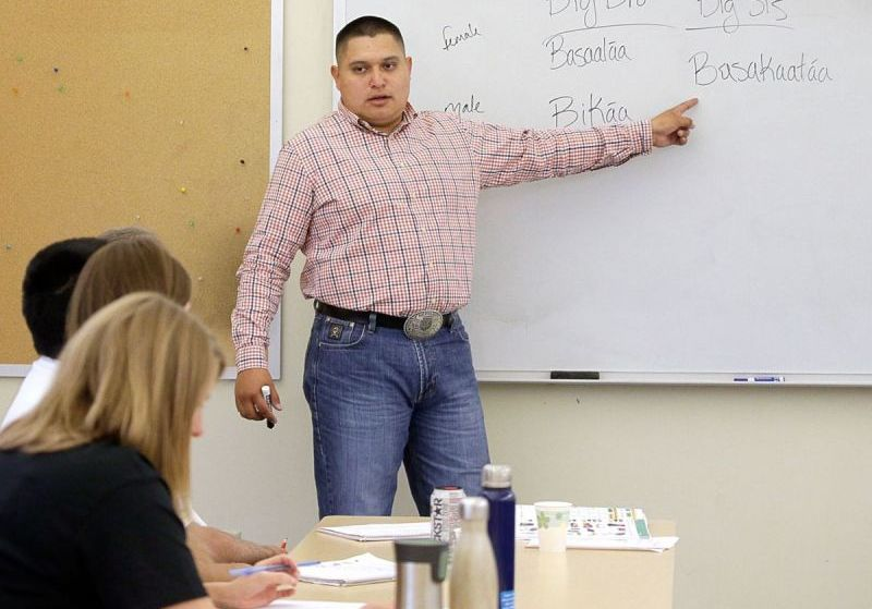 'Teaching, not preaching': Crow language instructors learn teaching methods